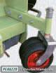 Front-Doppelräder, höhenverstellbar.