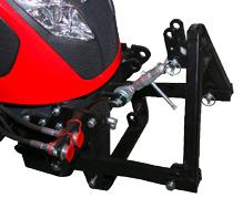 optionale genormte 3-Punkt Fronthydraulik