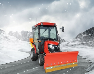 Aktion 2021 - TYM TS255 HST Winterdienst-Traktor mit Kabine, Schneeschild und Streuer