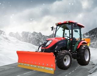 Aktion 2020 - TYM T555 SH Winterdienst-Traktor mit Kabine, Schneeschild und Streuer
